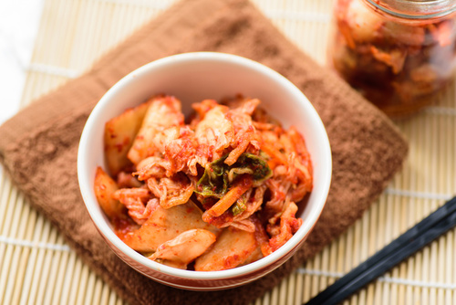Kimchi cabbage (Korean food) in a bowl